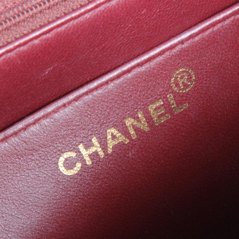 1990s Chanel Jumbo Vintage Bag For Sale 11
