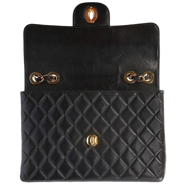 1990s Chanel Jumbo Vintage Bag For Sale 4