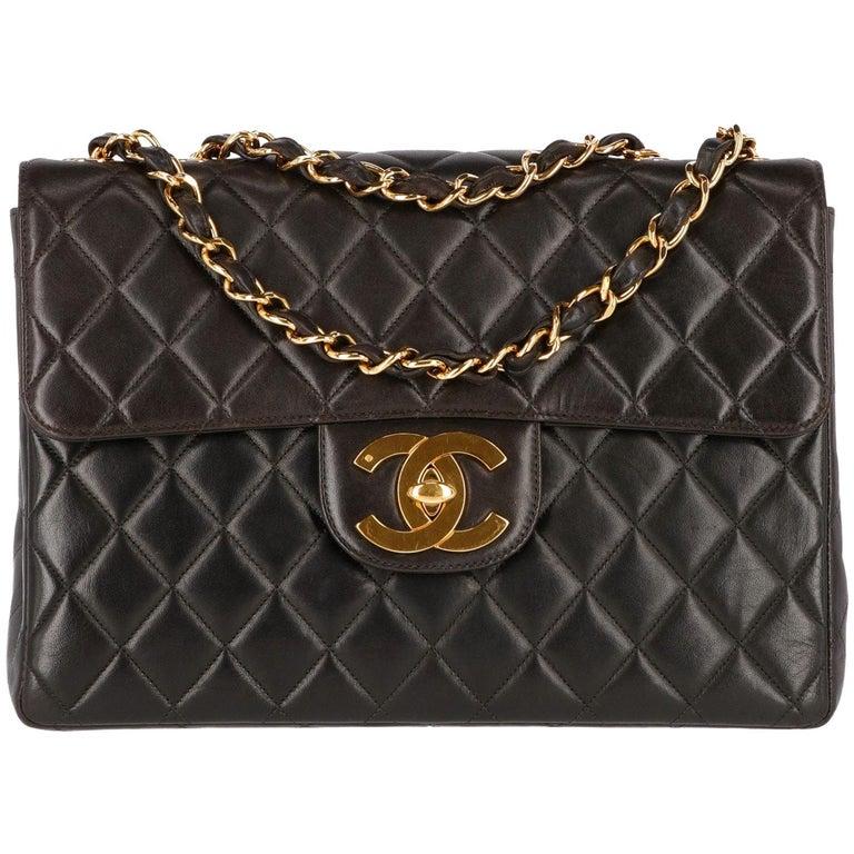 1990s Chanel Jumbo Vintage Bag For Sale