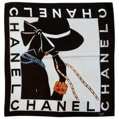 Chanel 1990s Mademoiselle Silk Scarf