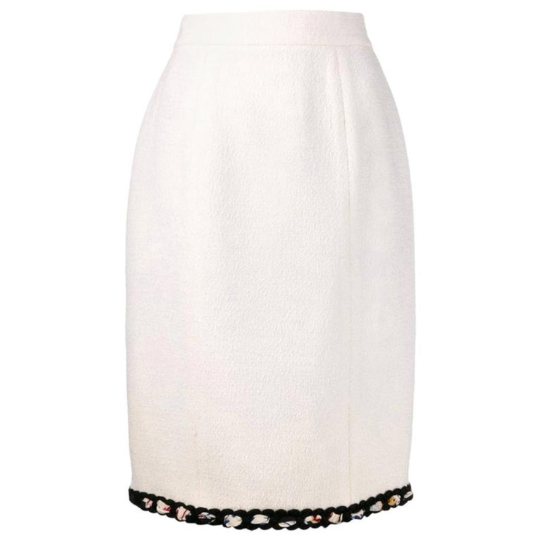 1990s Chanel Pencil Skirt For Sale