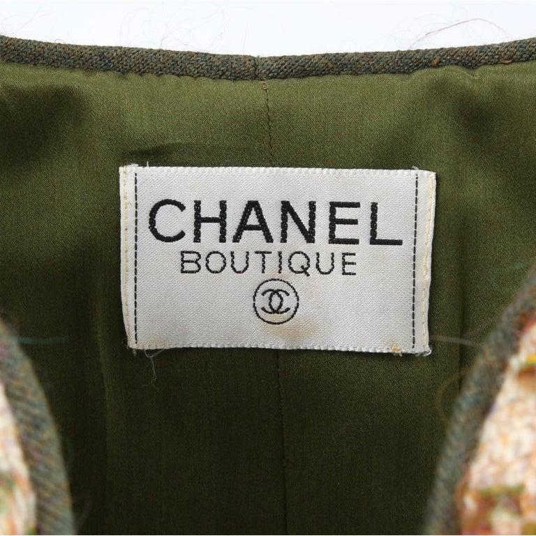 1990s Chanel Pied de Poule Overcoat For Sale 1