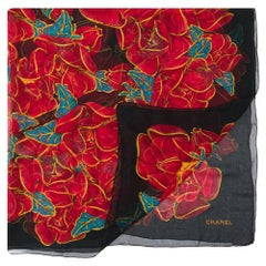 1990s Chanel Printed Scarf