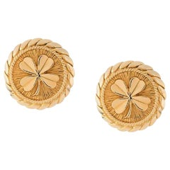 1990s Chanel Round Earrings