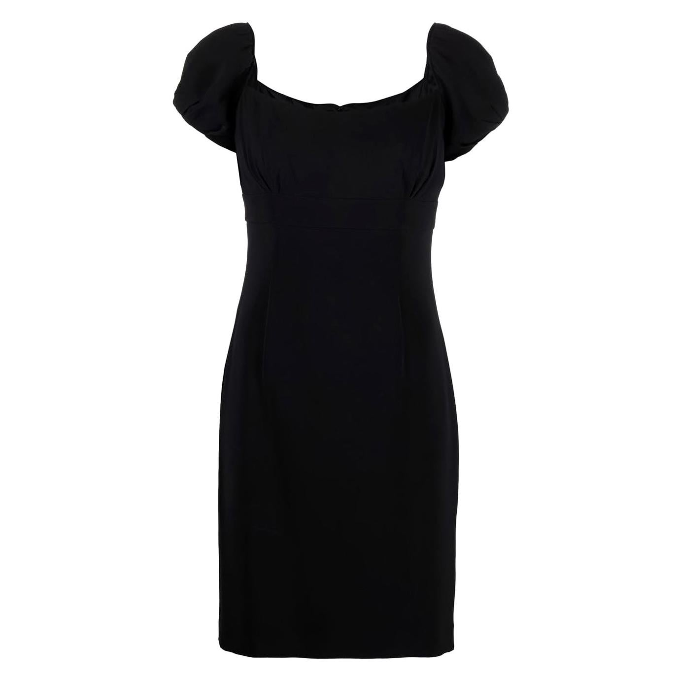 1990s Christian Dior Black Silk Cocktail Dress
