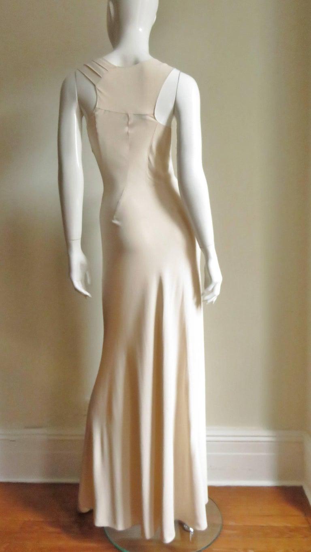 Christian Dior 1990s Blush Seam Detail Silk Gown For Sale 5