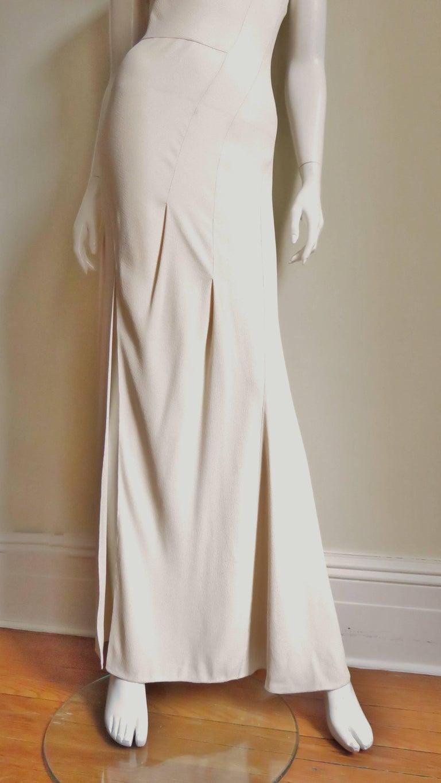 Women's Christian Dior Blush Seam Detail Silk Gown, 1990s  For Sale