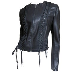 Christian Dior Leather Jacket with Lacing
