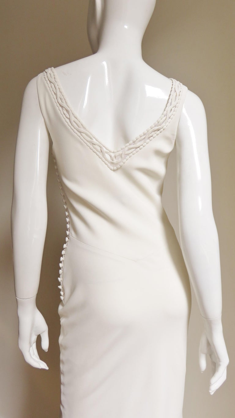 1990s Christian Dior Silk Gown with Intricate Detail  For Sale 9