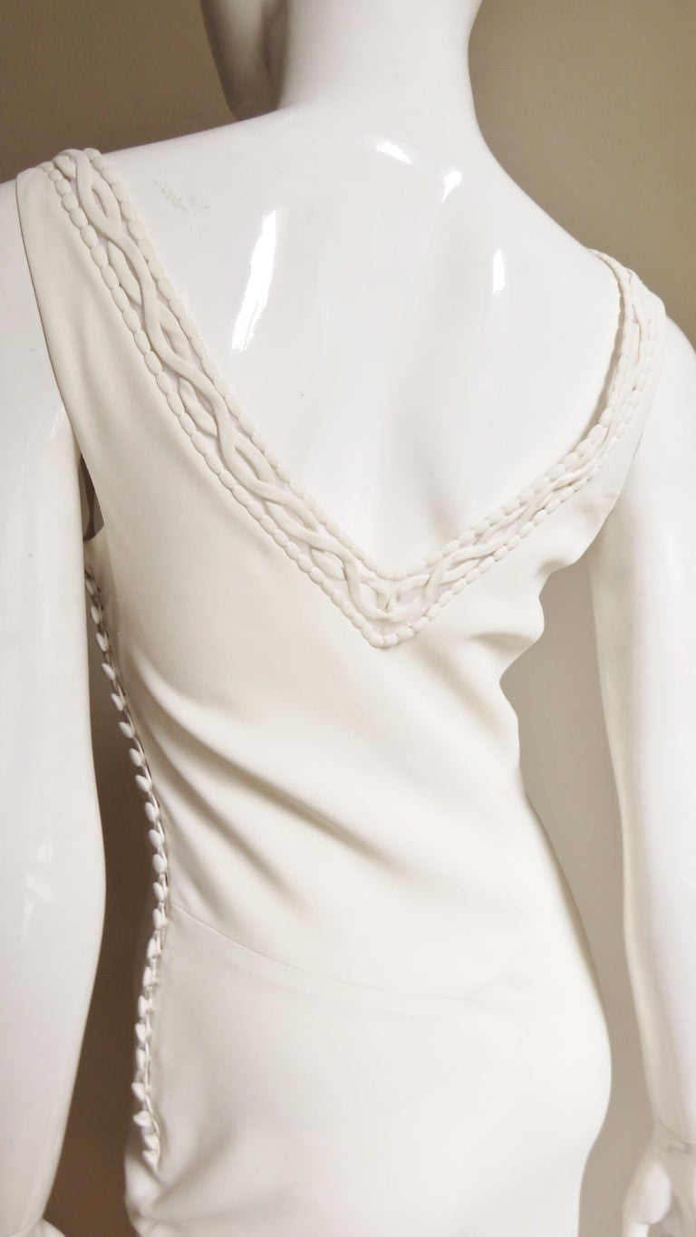 1990s Christian Dior Silk Gown with Intricate Detail  For Sale 10