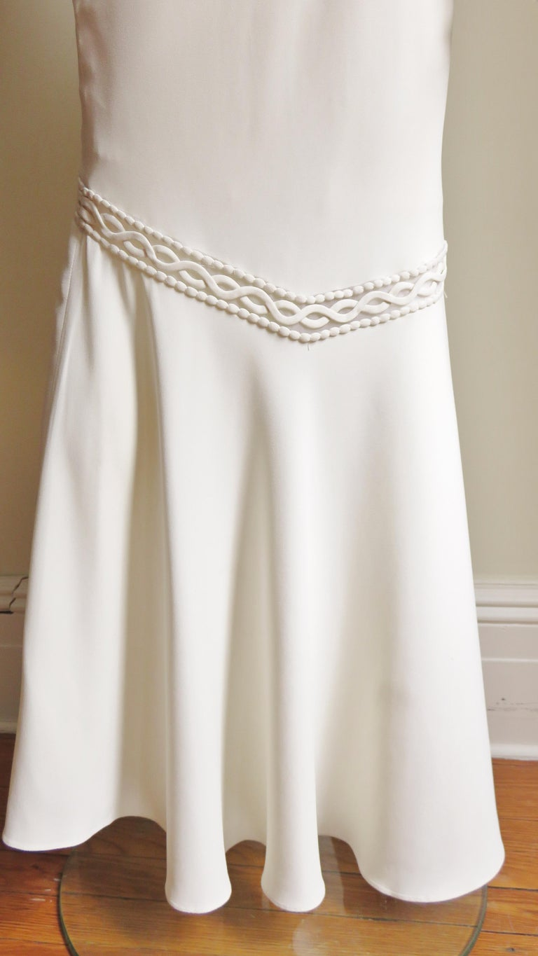 1990s Christian Dior Silk Gown with Intricate Detail  For Sale 11