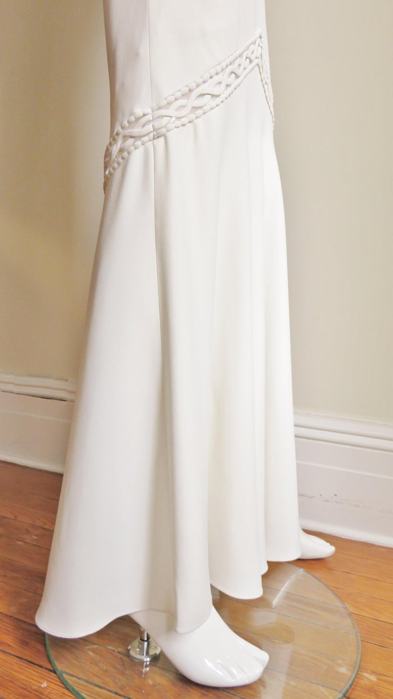 1990s Christian Dior Silk Gown with Intricate Detail  For Sale 12