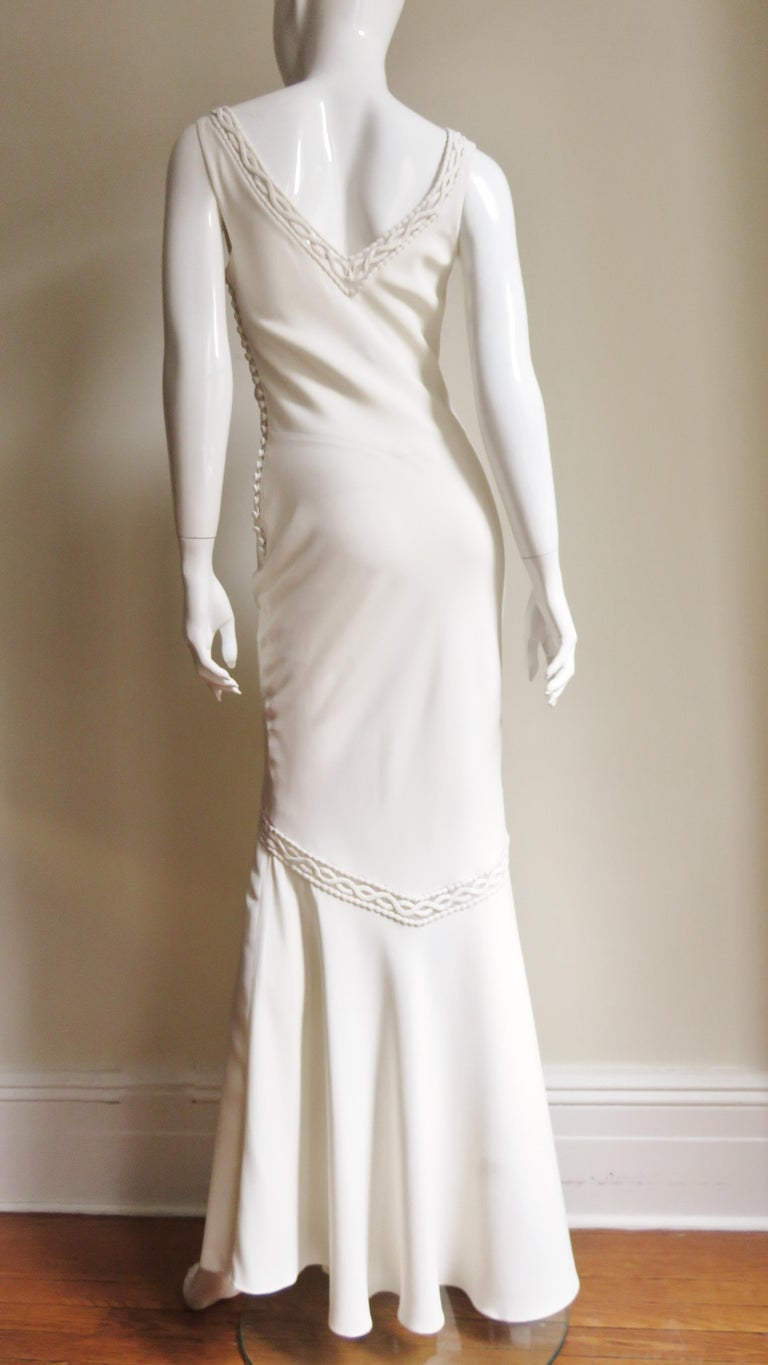 1990s Christian Dior Silk Gown with Intricate Detail  For Sale 13