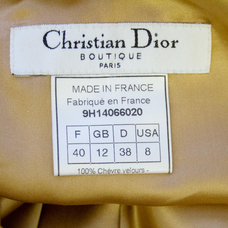 1990s Christian Dior Tan Suede Dress and Jacket with Lace Trim  5