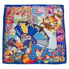 1990s Christian Lacroix Circus Print Scarf
