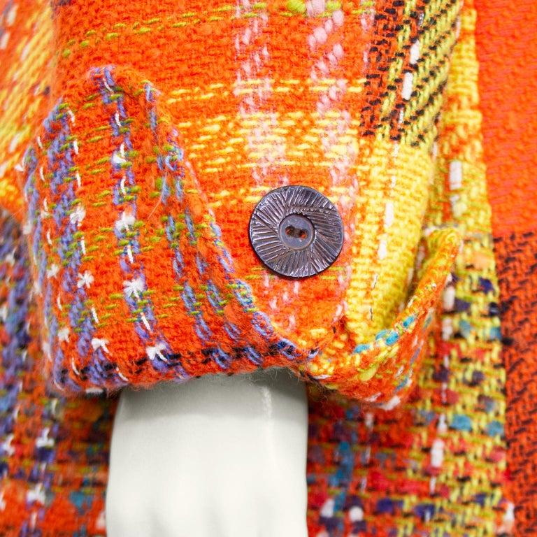 1990s Christian Lacroix Orange Tweed Blazer For Sale 1