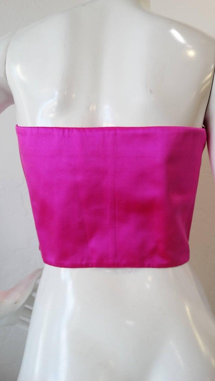 93ceba425d Christian LaCroix Pink Bustier Top