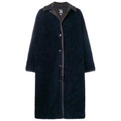 1990s Claude Montana Blu Coat