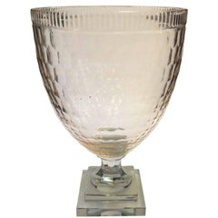 1990s Clear Crystal Urn Vase