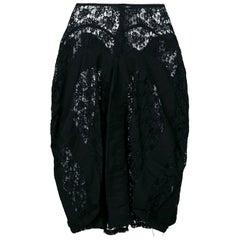 1990s Comme des Garçons Black Lace Vintage Skirt