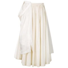 1990s Comme des Garçons White Layered Vintage Skirt