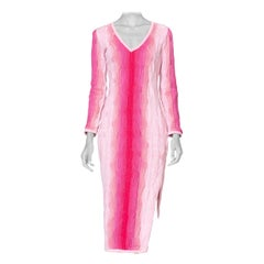 1990's Coogi Pink Ombre Knit Sweater Dress