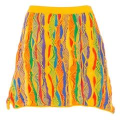 1990s Coogie knit multi-color mini skirt Skirt