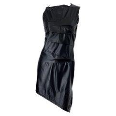 1990s Dexter Wong Club Kid Rave Japanese Black Pleather Vintage 90s Mini Dress