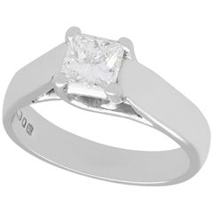 1990s Diamond and White Gold Solitaire Engagement Ring