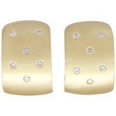 1990s Diamond and Yellow Gold Drop Earrings