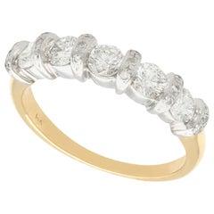 1990s Diamond and Yellow Gold Half Eternity Ring
