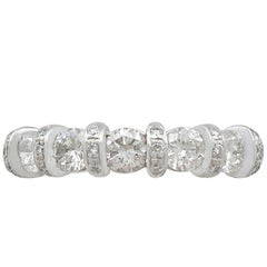 1990s Diamond and Yellow Gold Half Eternity Ring