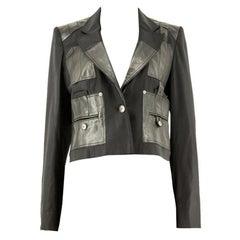 1990s Dior Leather Panel Blazer