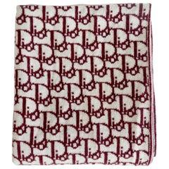 1990s Dior Two Tone Monogram Wool Scarf