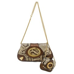 1990s Dolce and Gabbana Bronze Bag and Matching Wristlet
