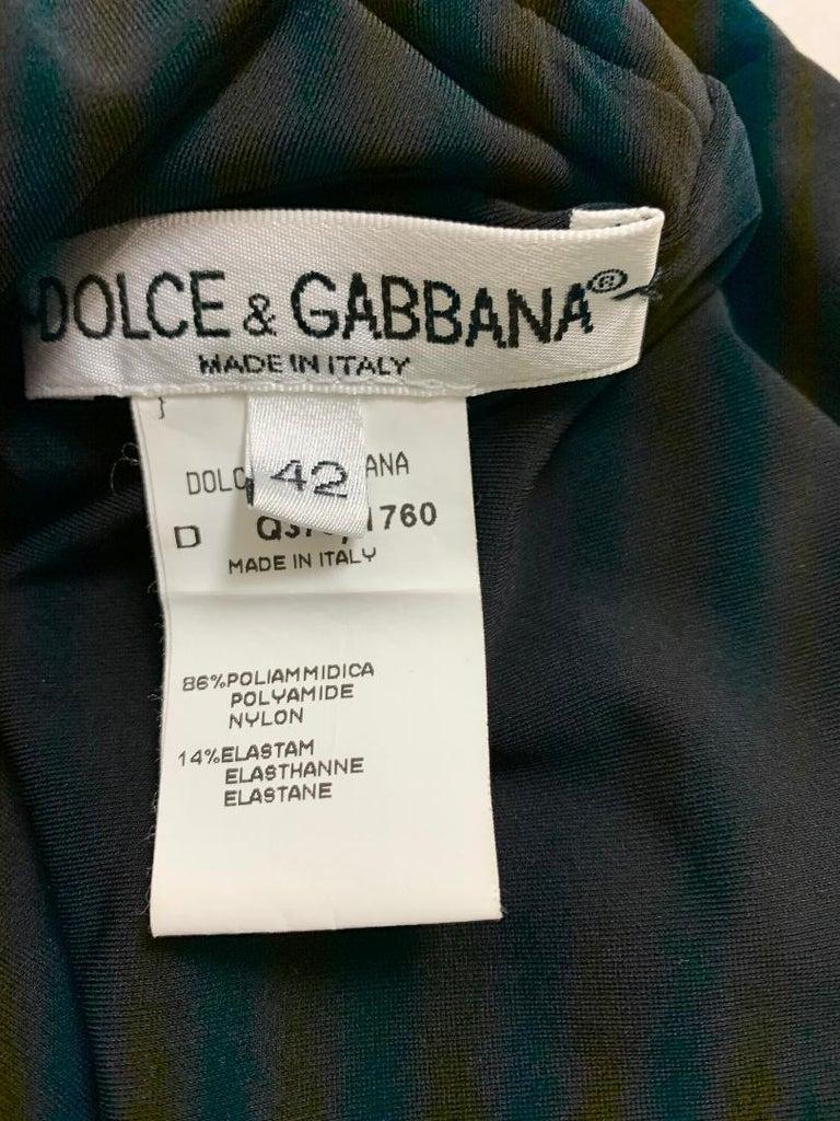 Women's 1990's Dolce & Gabbana Black Nylon Bodycon Pin-Up Long Wiggle Dress For Sale