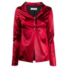 1990s Dolce & Gabbana Iridescent Red Jacket