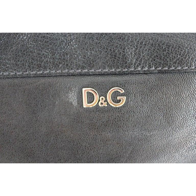 1990s Dolce & Gabbana Maika Black Bow Leather Shoulder Bag For Sale 1