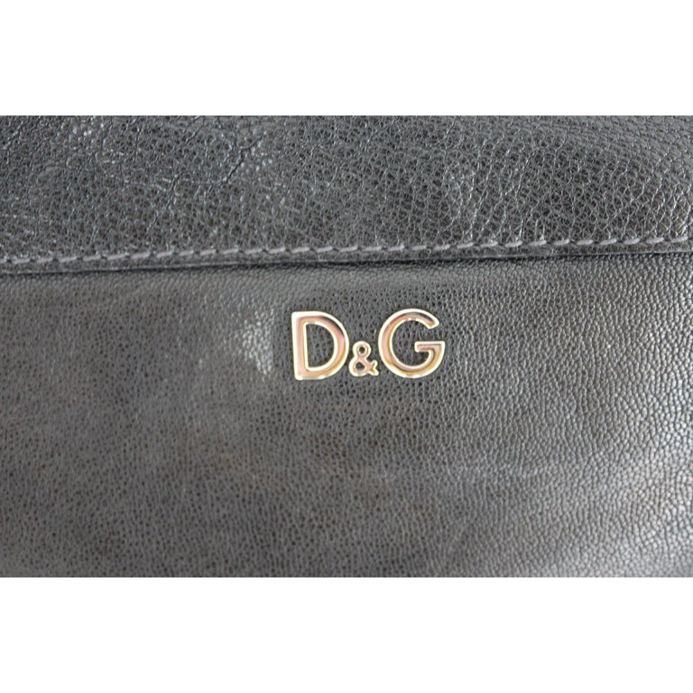 1990s Dolce & Gabbana Maika Black Leather Bow Shoulder Bag For Sale 1