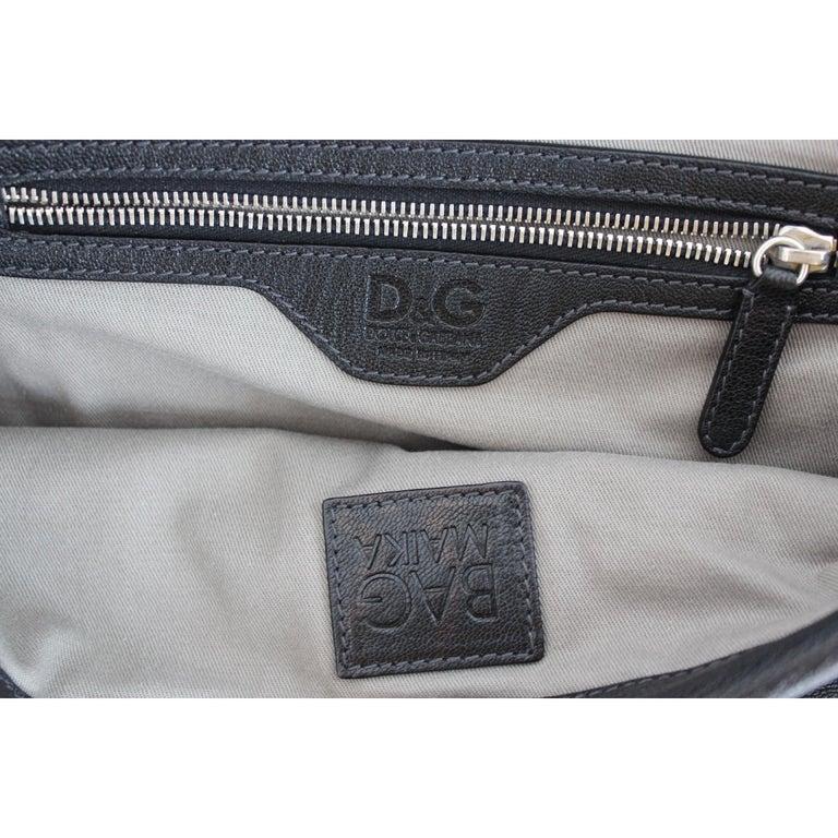 1990s Dolce & Gabbana Maika Black Leather Bow Shoulder Bag For Sale 4