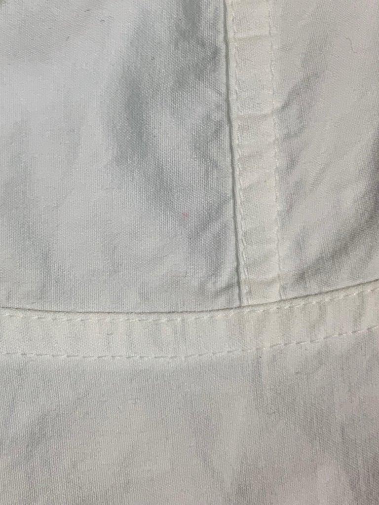 1990's Dolce & Gabbana Sheer White Mesh L/S Bustier & High Waist Skirt Set For Sale 1