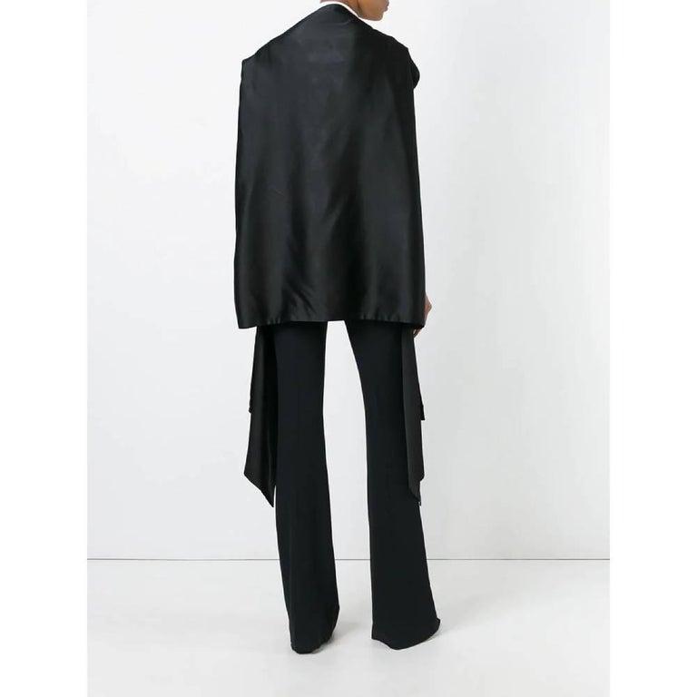 1990s Dolce&Gabbana Black Silk Kimono In Excellent Condition For Sale In Lugo (RA), IT