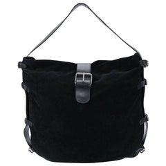 1990s Dolce&Gabbana Black Suede Tote Bag