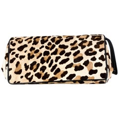 1990's Donna Karan Cheetah Printed Clutch