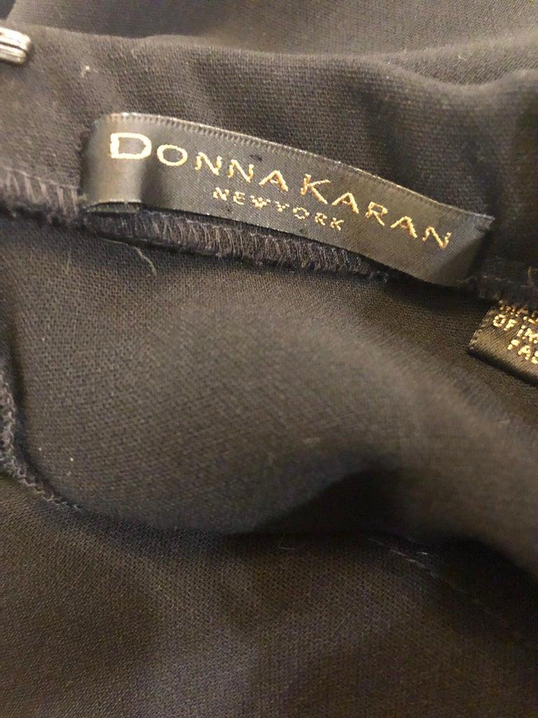 1990s Donna Karan New York Size 4 Black Strapless Vintage 90s Gown Maxi Dress For Sale 9