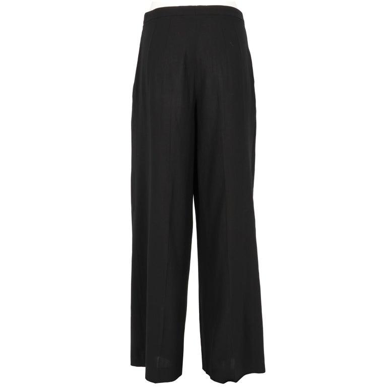 Black 1990s Dries Van Noten Pants For Sale