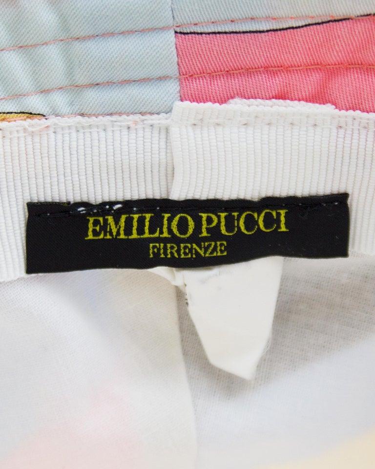 1990s Emilio Pucci Pastel Bucket Hat For Sale 1