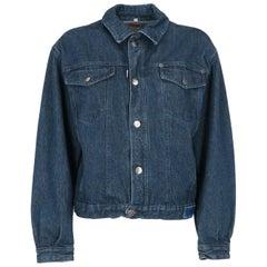 1990s Enrico Coveri Blue Denim Jacket