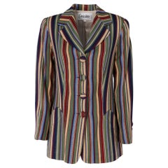1990s Enrico Coveri Multicolour Wool Blazer