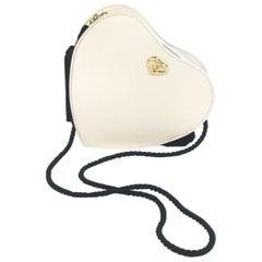 1990s Escada Pink Silk Heart Bag with Tassels